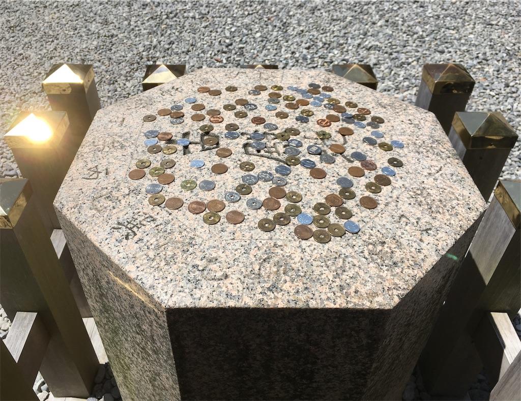 猿田彦神社 方位石 八角形